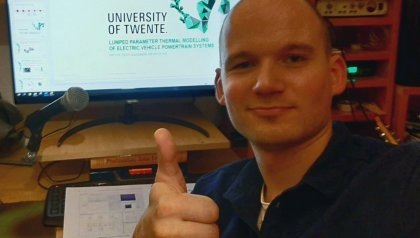 First online graduate for Sustainable Energy Technology