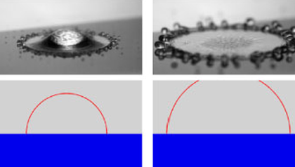 First images of the nano layer beneath a levitating droplet