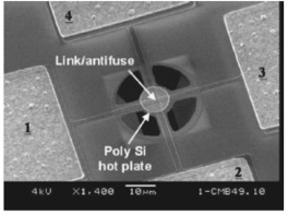 Suspended Membrane Antifuse-Based Silicon Chemical Sensor and Actuator