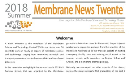 Membrane News Twente Summer 2018 is out now!!!