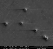 C:\Users\Frank\Documents\PhD 20131016\presentation\2014-08-31 ICORS\useable measurements\A2 FIB SEM Raman\area1_A2_mag6500x_afterRaman1_006.tif